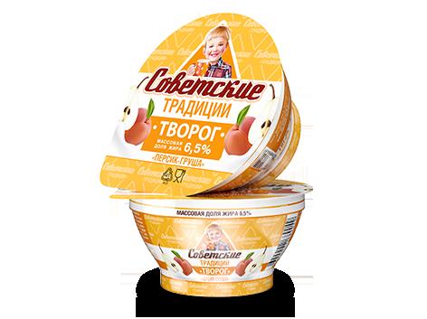 Творог «Персик-груша» «Советские традиции». Массовая доля жира 6,5%